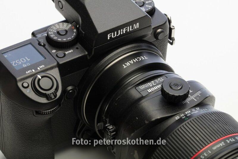 Fujfilm GFX 50S mit Canon Objektiven - Techart Adapter - Fujifilm GFX 50S mit Canon TS-E 24mm F/3.5