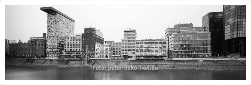 Panoramafoto Hafen Düsseldorf