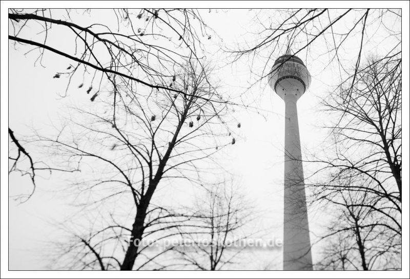 Rheinturm von unten