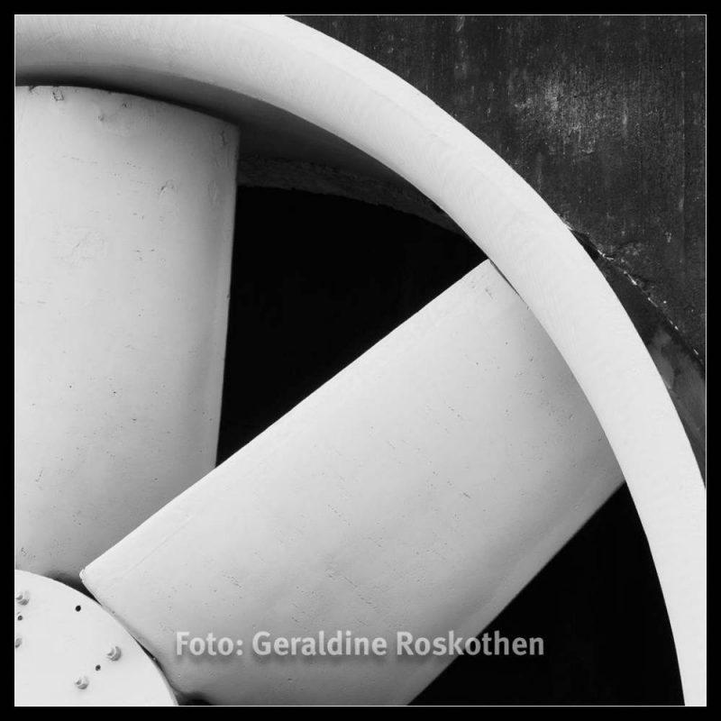 Flügel - Landschaftspark Nord Schwarzweiß Fotos - Geraldine Roskothen