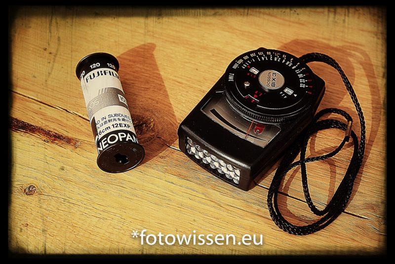 Fujifilm Acros 120er und Belichtungsmesser