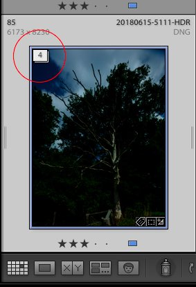 Lightroom HDR-Stapel