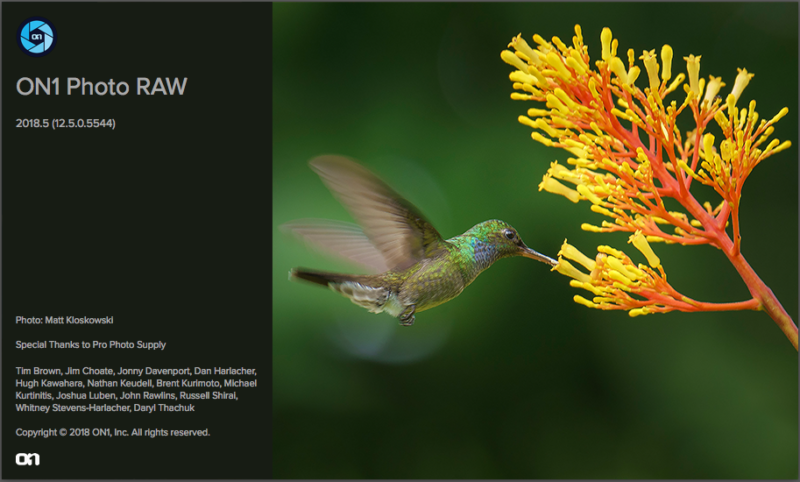 Update On1 Photo RAW Software 2018.5
