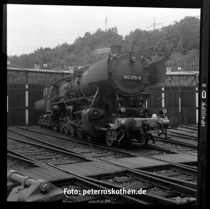 Eisenbahn Schwarzweiß auf Film