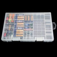 Nützliche Kunststoff Akku Aufbewahrung Box Case AAA AA