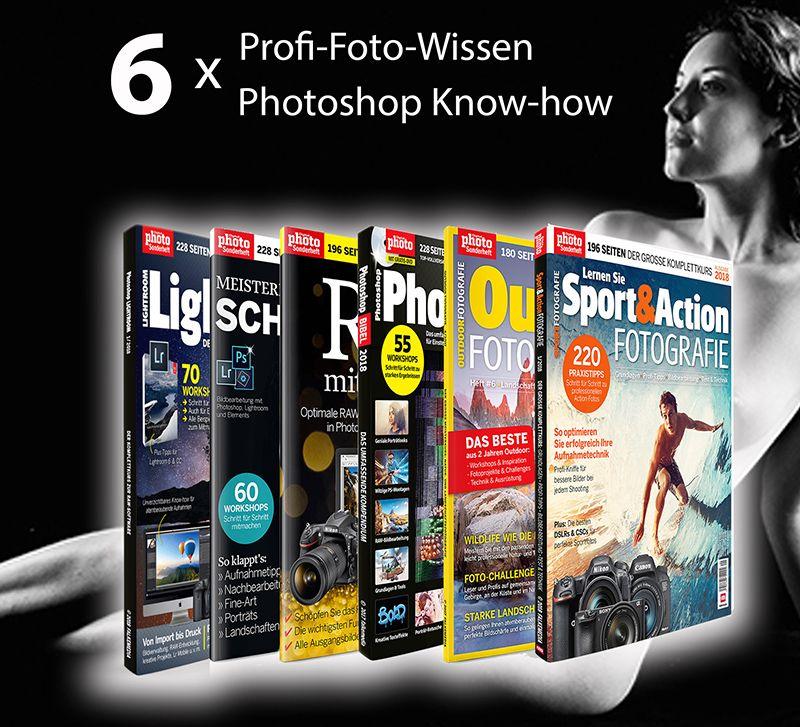6 x Profi-Foto-Wissen - das Spezial für alle *fotowissen Leser