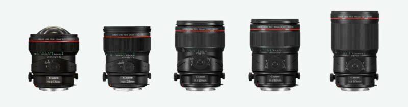 Übersicht Canon TS-E Objektive