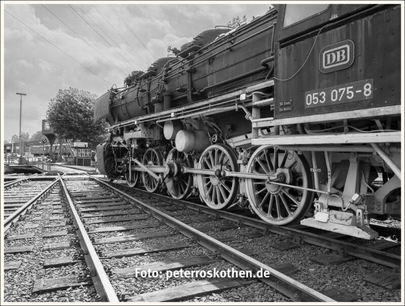Lokomotive - Eisenbahnbilder Schwarzweiß