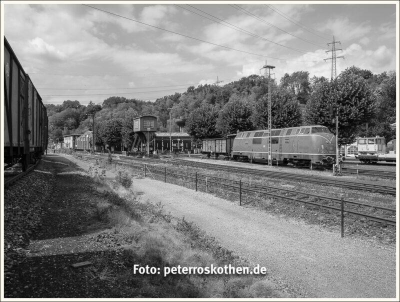 Blick über das Gelände vom Eisenbahnmuseum Bochum