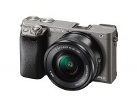 "Sony Alpha 6000 Systemkamera (24 Megapixel, 7,6 cm (3"") LCD-Display, Exmor APS-C Sensor, High Speed Hybrid AF) inkl. SEL-P1650 Objektiv graphit-grau"