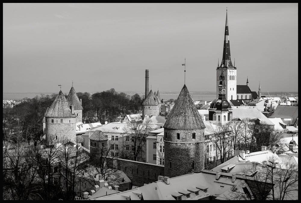 Blick auf die mittelalterlichen Stadttürme