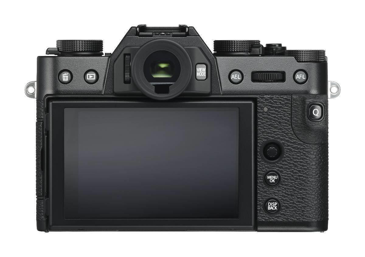 Fujifilm X-T30 schwarz Rückseite - Test Fujifilm X-T30 DSLM - Video Details Vergleich