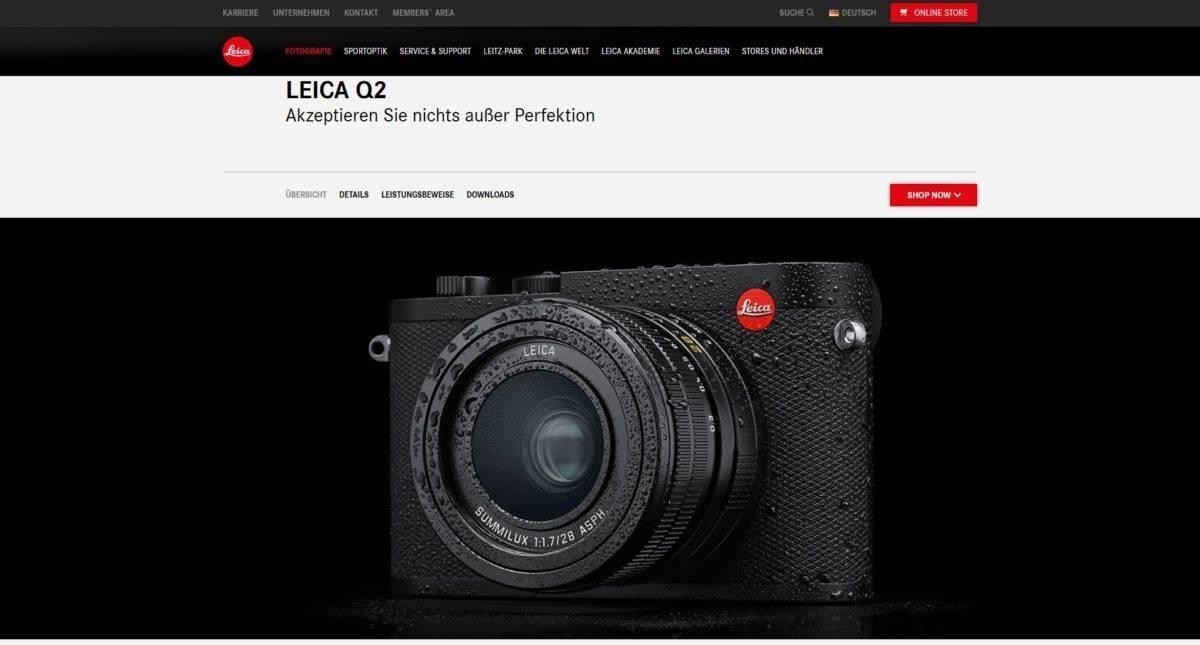 Die neue wettergeschuetzte Leica Q2