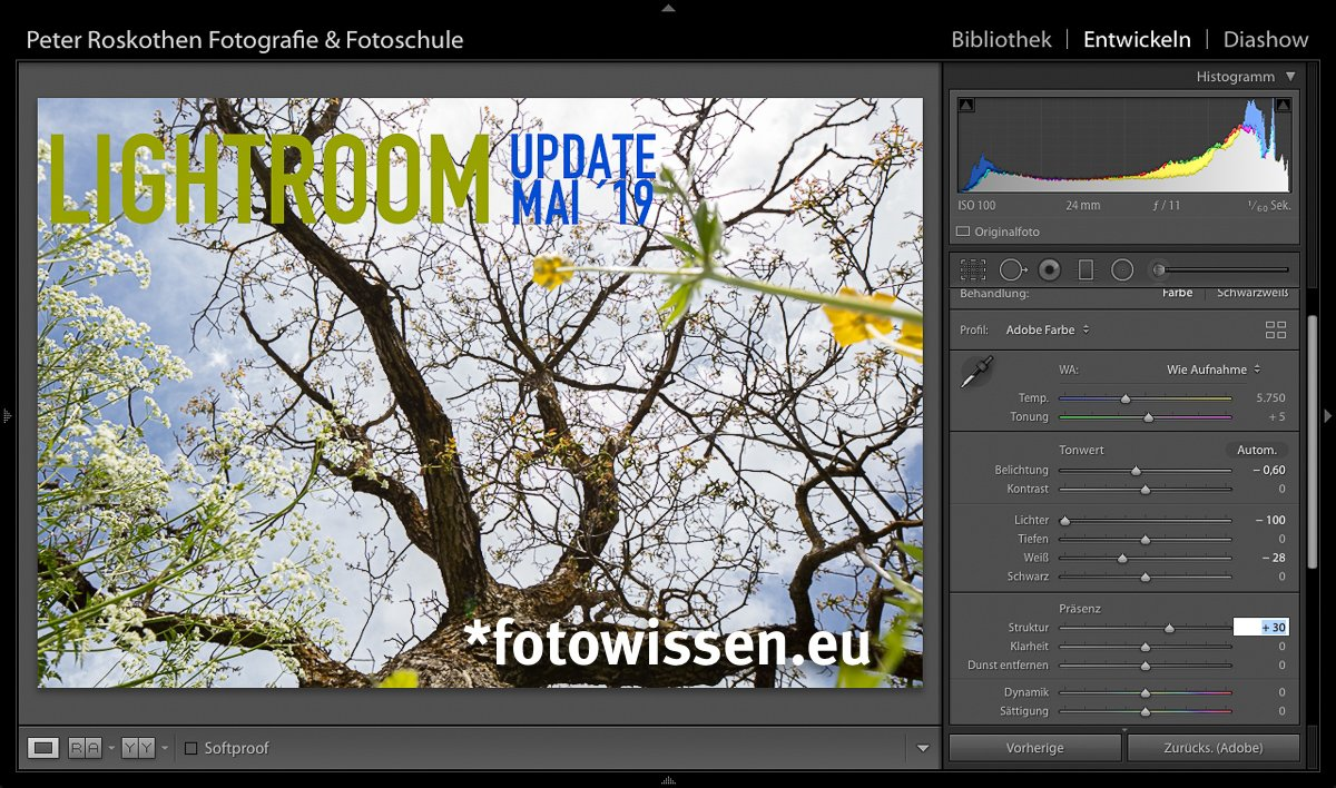 Lightroom Update Mai 2019