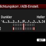 HDR-Bilder: AEB-Belichtungsserie bei Canon Kameras