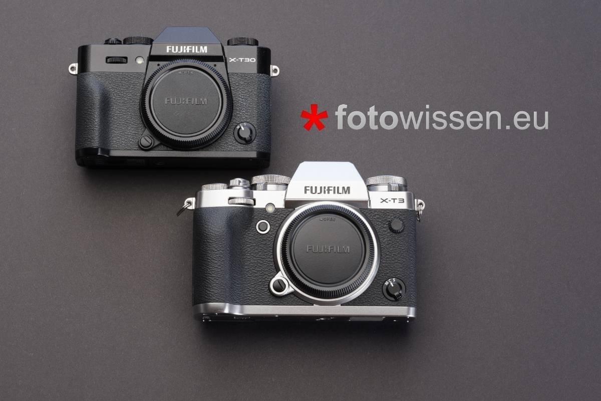 Fujifilm X-T3 versus X-T30 - Vergleich technische Daten Bedienung