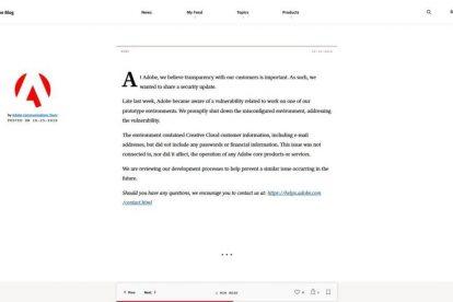 Adobe verliert 7,5 Millionen Kundendaten