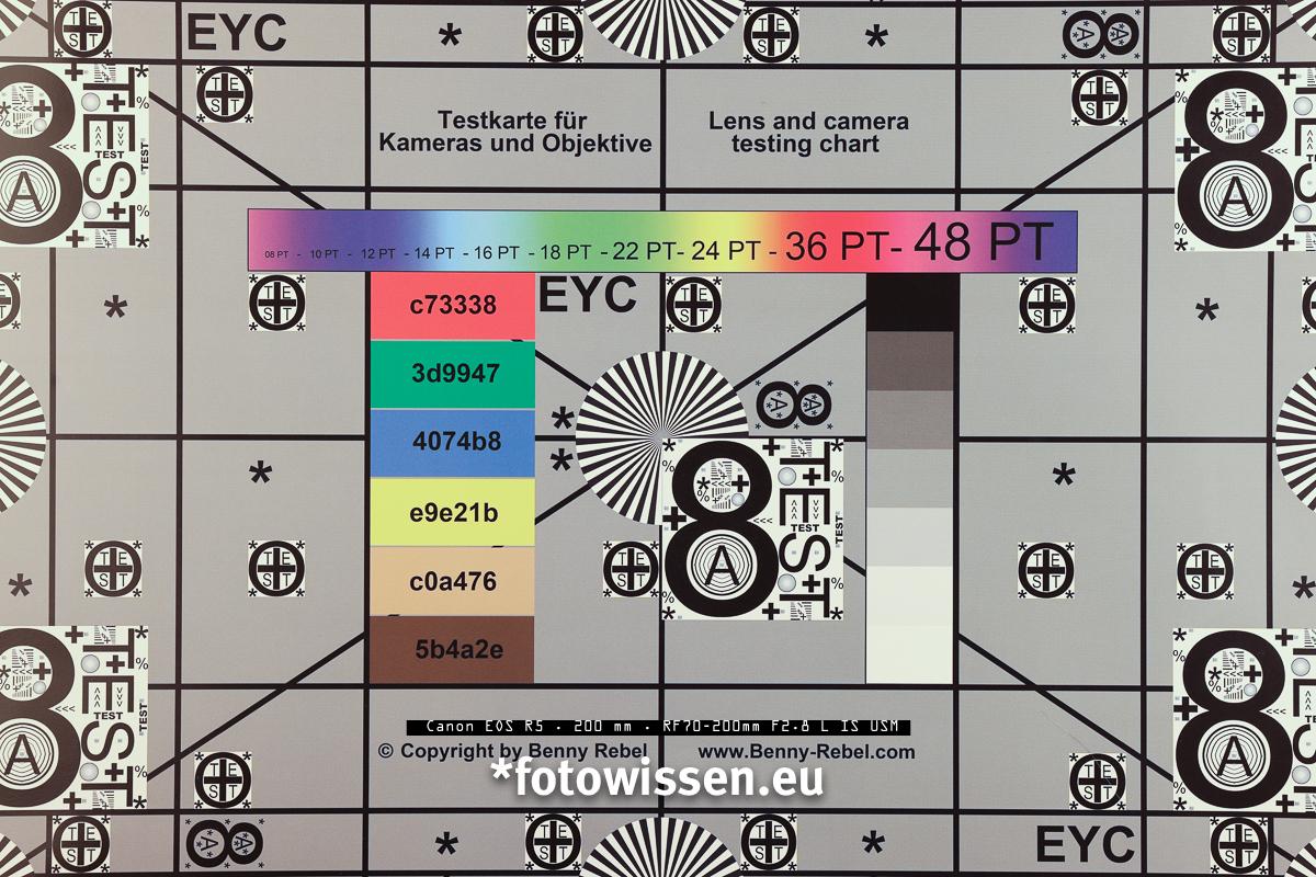 Test Canon EOS R5 mit RF 70-200mm f2.8 bei 200mm